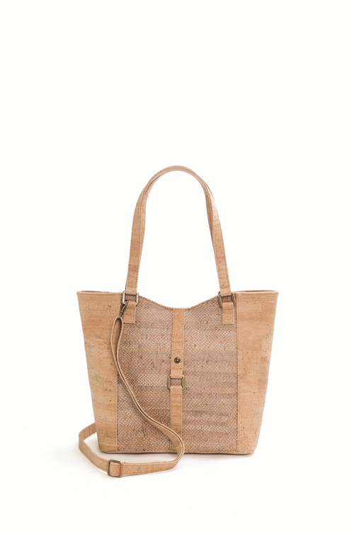 Beige Cork Shoulder Bag - Liore's Premium Cork