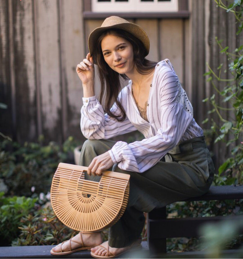 Bamboo purse - WenLeeMae Boutique
