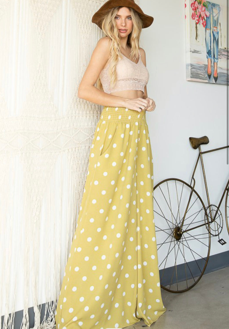 Polka dot maxi pants - WenLeeMae Boutique
