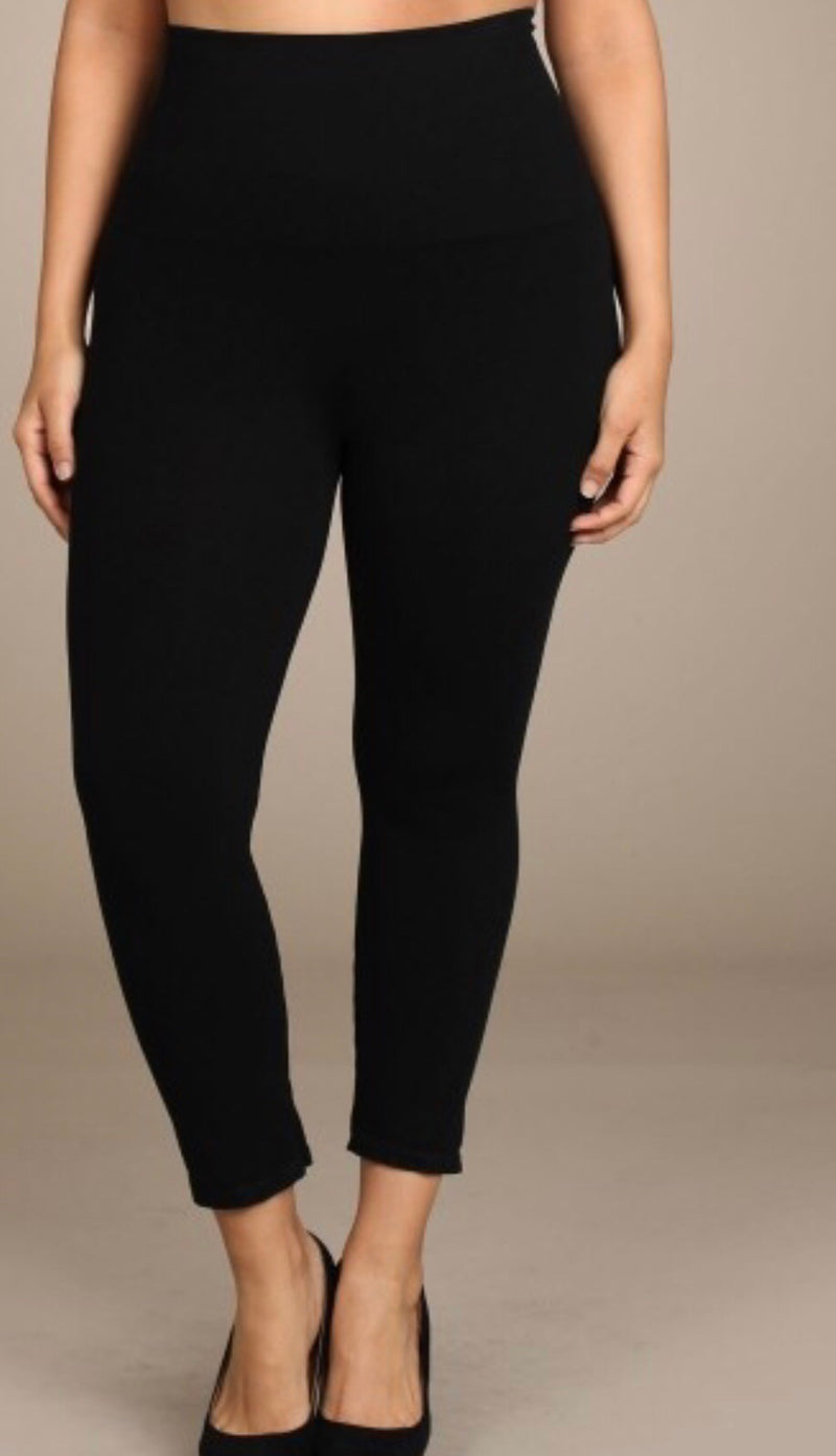 Curvy girl Tummy Tuck Leggings - WenLeeMae Boutique