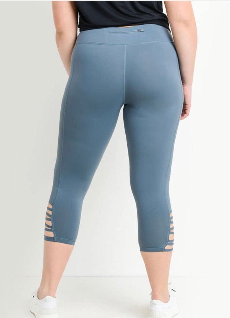 Cris Cross Capri curvy girl Leggings - WenLeeMae Boutique