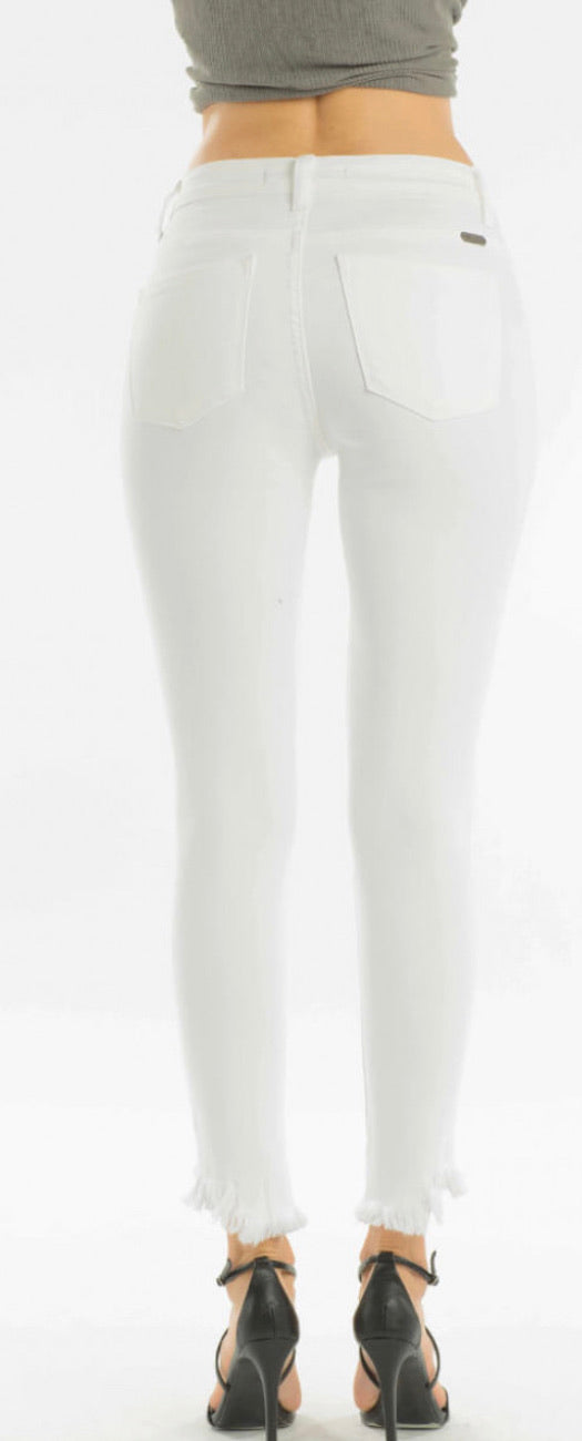 Distressed white Kancan - WenLeeMae Boutique