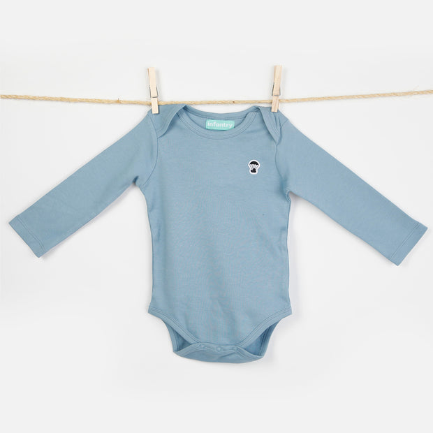 CLASSIC LONG SLEEVE BODYSUIT | DUSTY BLUE