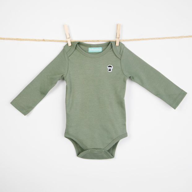CLASSIC LONG SLEEVE BODYSUIT | MILITARY GREEN