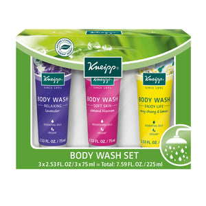 Kneipp Holiday 3 Piece Body Wash Gift Set 2.53 Fl. Oz.