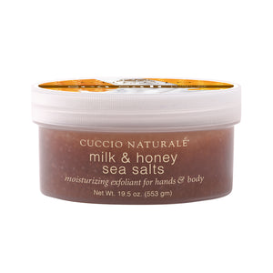 Cuccio Naturale Milk & Honey Salt Exfoliant 19.5 Oz.