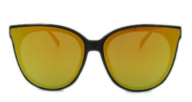 Addison - Gold Mirror Lens - Black Frame