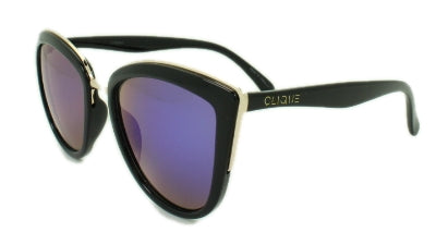 Alba - Blue/Purple Mirror Lens - Black Frame