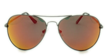Ashton - Orange/Red Mirror Lens - Black Frame