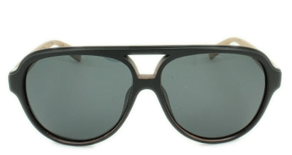 Jake - Black Lens - Black/Faux Wood Frame