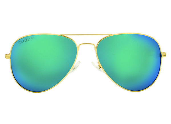 Maverick - Color Mirror Glass Lens Sunglasses