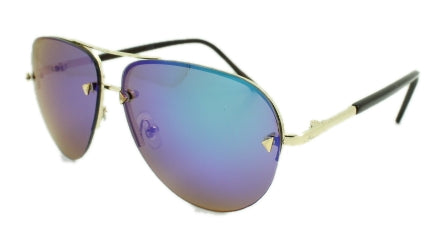 Cassidy - Blue Mirror Lens - Silver Frame