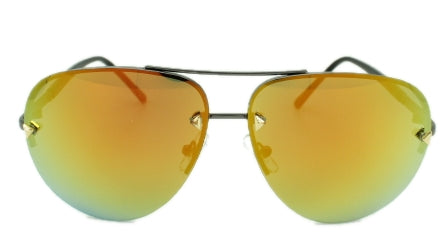 Cassidy - Orange Mirror Lens - Dark Metal Frames