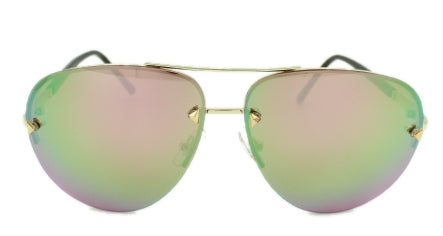Cassidy - Pink/Green Rose lens with Mirror  - Gold Frame