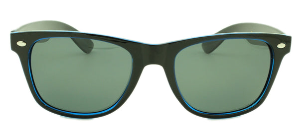 Cruise -Polarized Smoke Lens - Black and Clear Blue Frame