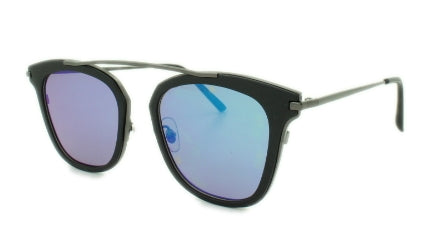 Jayden - Blue/Green Mirror Lens - Black Metal Frame