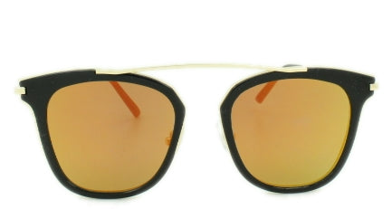 Jayden - Red/Orange Mirror Lens - Gold Frame