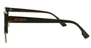 Kylie - Brown Flash Mirror Lens - Matte Gold Root Beer Frame