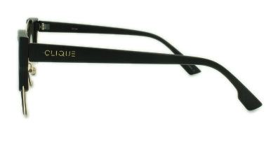 Kylie - Matte black and gold frame with blue green mirror