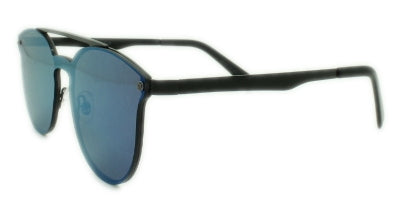 London - Blue Mirror Lens - Gun Metal Frame