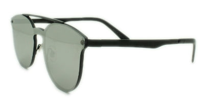 London -Silver Mirror Lens - Gun Metal Frame