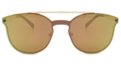 London -Pink/Gold Mirror Lens - Rose Gold Frame