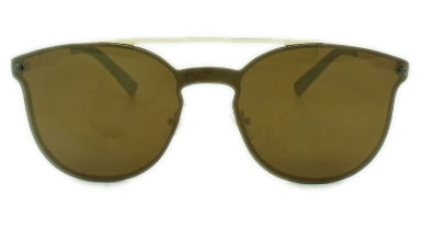 London - Brown Mirror Lens - Gold Frame