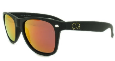 Marley - Red/Orange Mirror Lens - Matte Black Frame