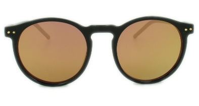 Mila - Pink Gold Mirror Lens  - Glossy Black Frame