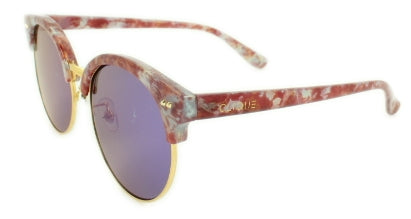 Reese - Blue/Purple Mirror Lens - Red Marble Frame