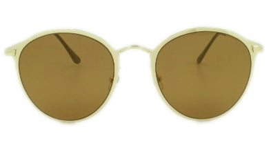 Rylee - Brown Lens - Gold Metal Frame