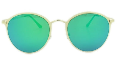 Rylee - Green/Blue Mirror Lens - Gold Frame
