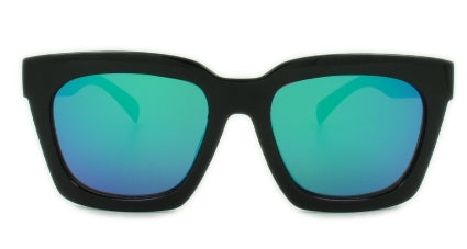 Selma - Blue Mirror Lens - Black Frame