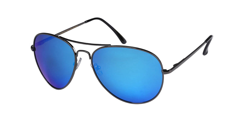 Ashton - Blue Mirror Lens - Black Frame