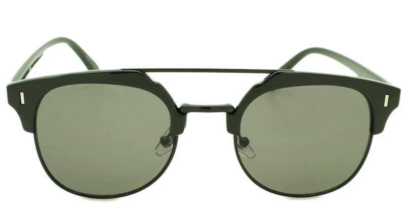 Dakota - Smoke Gray Lens - Black Frame Black Metal Accent