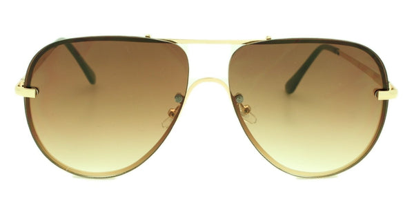 Shay - Brown Gradient Lens - Gold Metal Frame