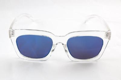 Selma - Blue Mirror Lens - Clear Frame