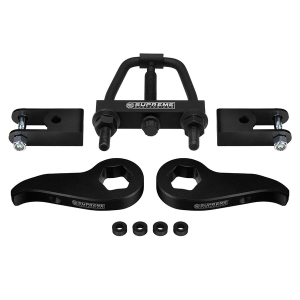 2011-2020 Chevy Silverado 3500HD Front Suspension Lift Kit & Install Tool & Shock Extenders 4WD 4x4
