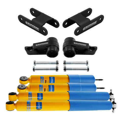 "2004-2012 Chevy Colorado 1-3"" Front 2"" Rear Full Suspension Lift Kit & Bilstein Shocks 4WD 4x4-Suspension Lift Kits-Bilstein and Supreme Suspensions-Supreme Suspensions®"