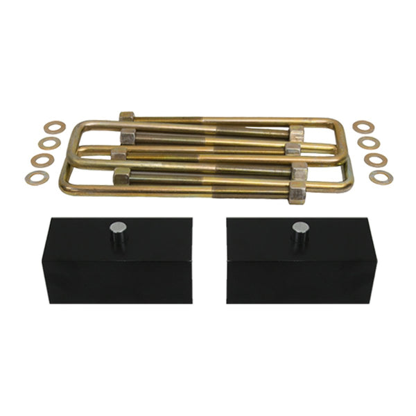 1986-1998 Toyota IFS Pickup Rear Leveling Block Suspension Lift Kit & Extended U Bolts 2WD 4WD