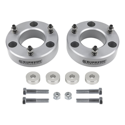 "2007(New)-2018 GMC Sierra 1500 Z71 / LTZ Front Suspension Lift Kit & Differential Drop 4WD 4x4-Suspension Lift Kits-Supreme Suspensions-3""-Silver-Supreme Suspensions®"