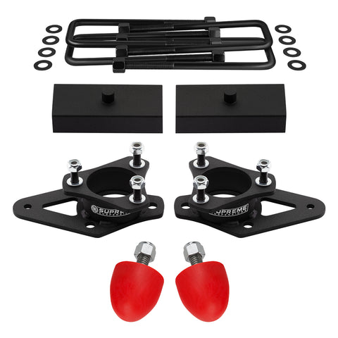 "2009-2012 Suzuki Equator Full Suspension Lift Kit with Polyurethane UCA Bump Stops 2WD 4WD-Suspension Lift Kits-Supreme Suspensions-3"" Front Lift-1"" Rear Lift-Supreme Suspensions®"