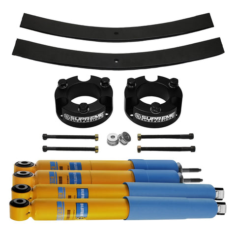 "2009-2012 Suzuki Equator Full Add A Leaf Rear Suspension Lift Kit & Bilstein Shocks 2WD 4x2-Suspension Lift Kits-Bilstein and Supreme Suspensions-2""-2""-4600 Series-Supreme Suspensions®"