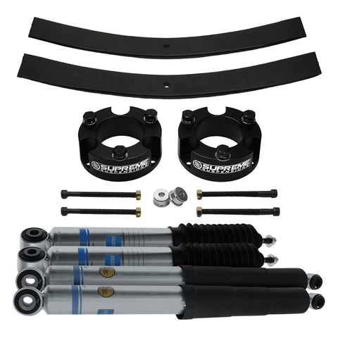 "2009-2012 Suzuki Equator Full Add A Leaf Rear Suspension Lift Kit & Bilstein Shocks 2WD 4x2-Suspension Lift Kits-Bilstein and Supreme Suspensions-2""-2""-5100 Series-Supreme Suspensions®"