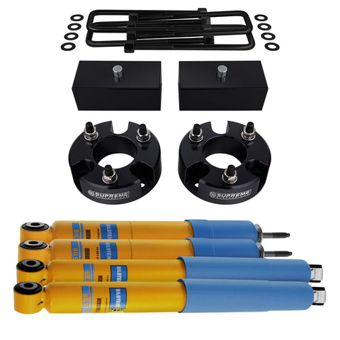 "2009-2012 Suzuki Equator Full Suspension Lift Kit & Bilstein Shocks 2WD 4WD-Suspension Lift Kits-Bilstein and Supreme Suspensions-2""-1""-4600 Series-Supreme Suspensions®"