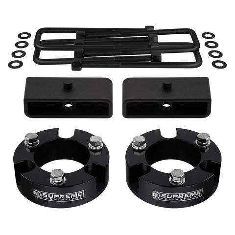 "2005-2020 Toyota Tacoma Full Suspension Lift Kit 2WD 4WD | SUPREME'S NEW HD STEEL LIFT BLOCKS!-Suspension Lift Kits-Supreme Suspensions-Black-3""-1.5""-Supreme Suspensions®"