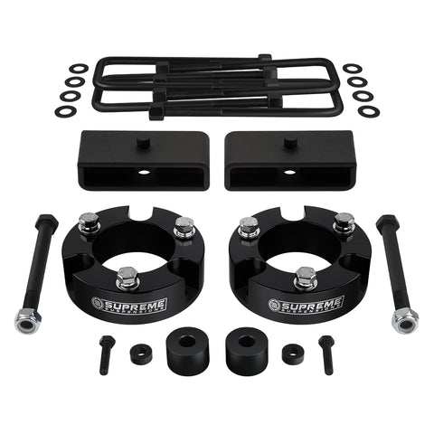"2005-2020 Toyota Tacoma Full Suspension Lift Kit with Diff Drop Kit 4WD + NEW HD STEEL LIFT BLOCKS-Suspension Lift Kits-Supreme Suspensions-Black-2""-1.5""-Supreme Suspensions®"