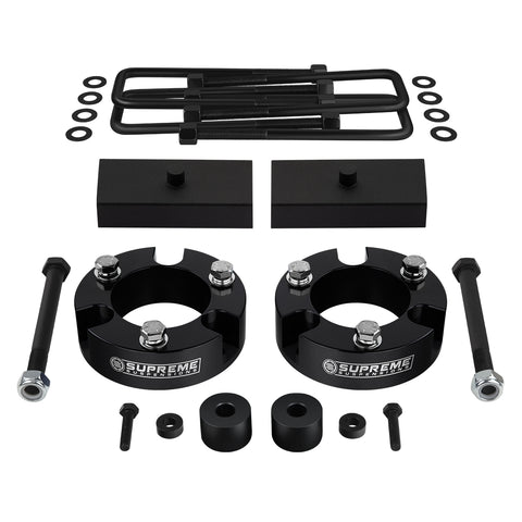 "2005-2020 Toyota Tacoma Full Suspension Lift Kit with Diff Drop Kit 4WD + NEW HD STEEL LIFT BLOCKS-Suspension Lift Kits-Supreme Suspensions-Black-2""-1""-Supreme Suspensions®"