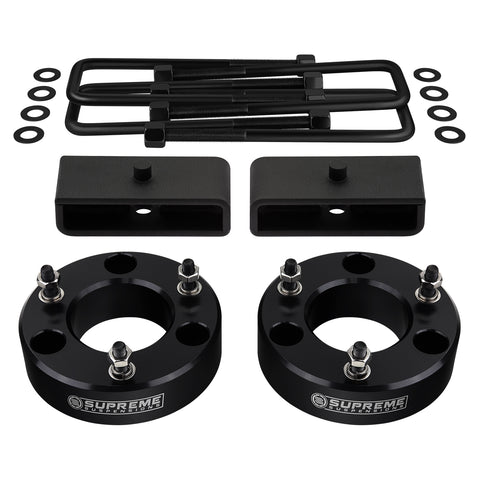 "2007-2020 GMC Sierra 1500 Full Suspension Lift Kit 2WD 4WD | SUPREME'S NEW HD STEEL LIFT BLOCKS!-Suspension Lift Kits-Supreme Suspensions-Black-2""-1.5""-Supreme Suspensions®"