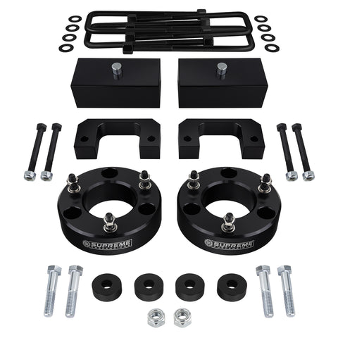 "2007(New)-2018 Chevy Silverado 1500 Z71 / LTZ Full Suspension Lift Kit & Differential Drop 4WD 4x4-Suspension Lift Kits-Supreme Suspensions-Black-3.5""-2""-Supreme Suspensions®"